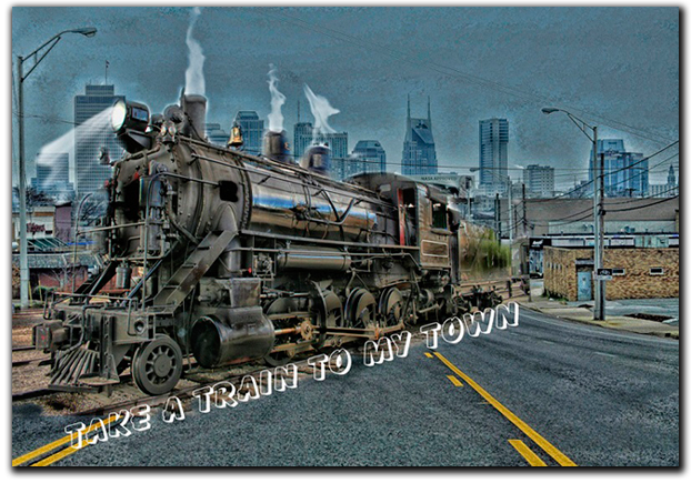 Take a Train To My Town music album cd by Greg Martin